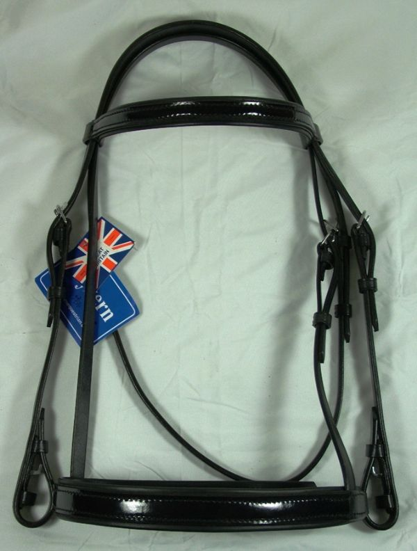 Wyvern Patent Leather Padded Bridle